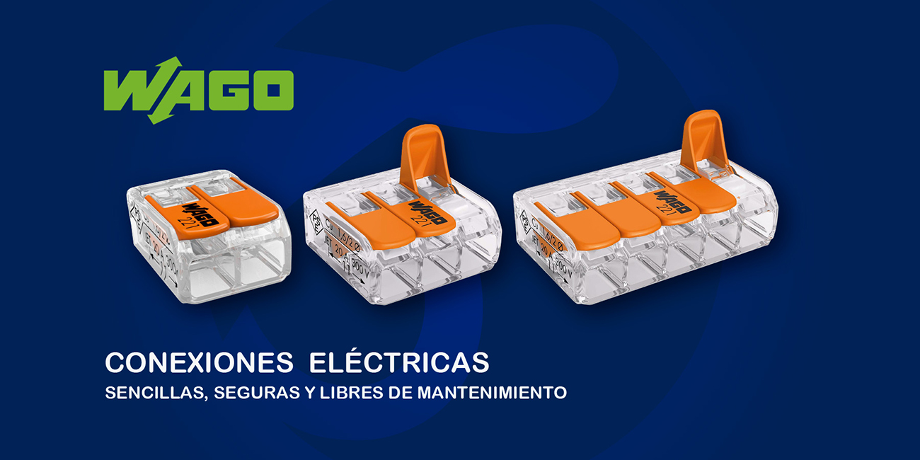 wago, conexiones electricas, conectores, iluminacion